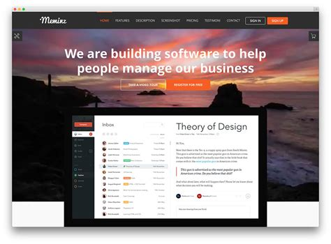 Best Landing Pages 2017 20 Best Landing Page Themes For Apps Products