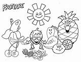 Fruit Coloring Salad Pages Fun Worksheet Activities Drawing Printable Funny Happy Living sketch template