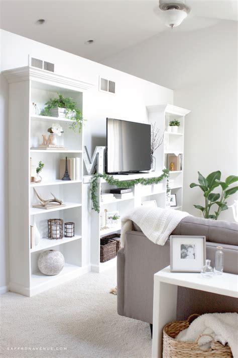 Bookcase Ikea by Our Ikea Hack Diy Built In Bookcase Saffron Avenue
