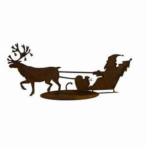 Weihnachtsmann Deko Aussen : edelrost weihnachtsmann mit schlitten und deko rentier kaufen ~ Orissabook.com Haus und Dekorationen