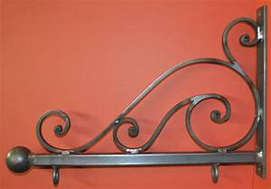 Wrought Iron 24 in. Scroll Sign Bracket Holder by
