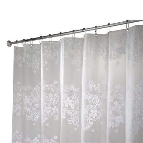 interdesign fiore stall size shower curtain white 54