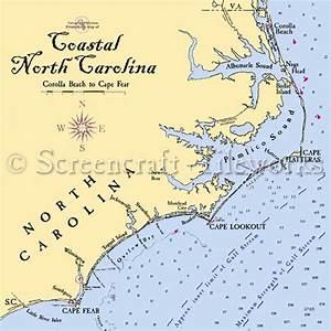 North Carolina - The North Carolina Coast / Nautical Chart ...