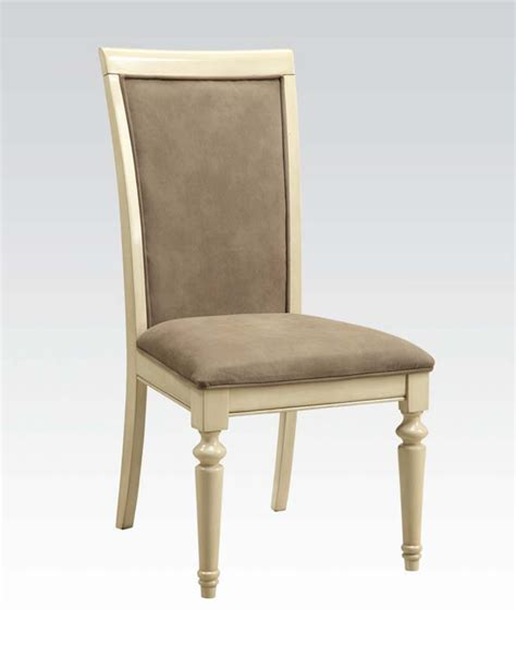 antique white side chair by acme furniture ac71707