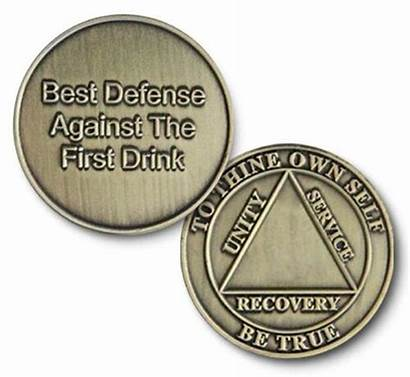 Bronze Coin Recovery Medallion Aa Defense Specialty