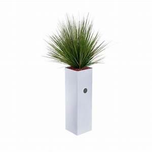 jardiniere haute et etroite garnie de graminees artificielles With jardiniere haute et etroite