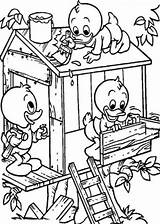 Coloring Treehouse Pages Colouring Build Tree Dewey Boomhutten Huey Louie Pollution Kleurplaten Stop Houses Drawing Fun Water Books Treehouses Printable sketch template