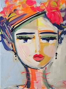 Abstract Portrait PRINT, medium, 9x12, woman portrait ...