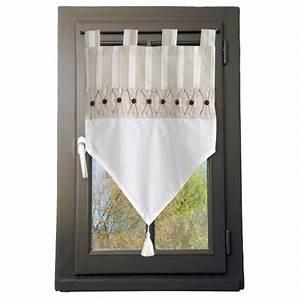 Voilage Brise Bise : voilage vitrage 60 x h60 cm alphonsine lin voilage vitrage eminza ~ Teatrodelosmanantiales.com Idées de Décoration