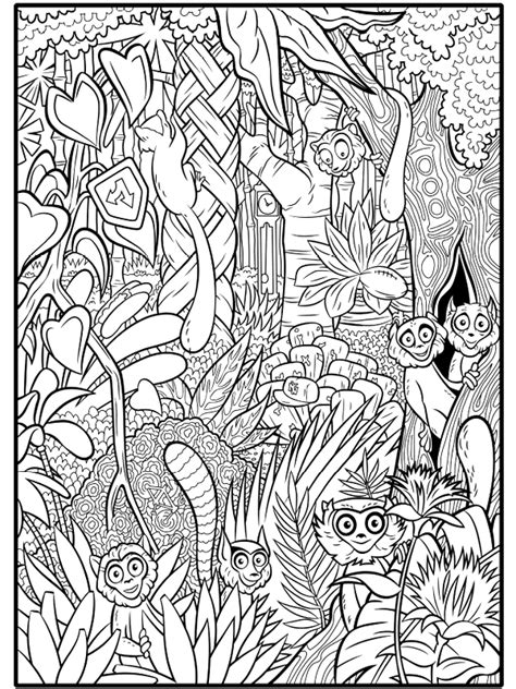 dessins gratuits  colorier coloriage animaux foret