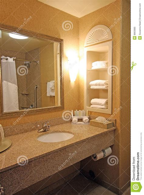 hotel bathroom sink area royalty  stock photo image