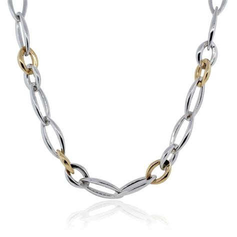 Chimento 18k White And Rose Gold Link Chain Necklace. Diamond Hill Watches. Platinum Watches. Where To Buy Anklets. Blue Pearl Bracelet. Male Lockets. Light Blue Bracelet. Stacked Bands. Symbol Wedding Rings