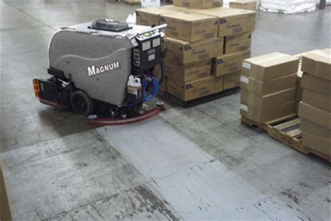 Industrial Concrete Floor Scrubber by Floor Scrubber Sweeper Magnum Walk Floor Scrubber