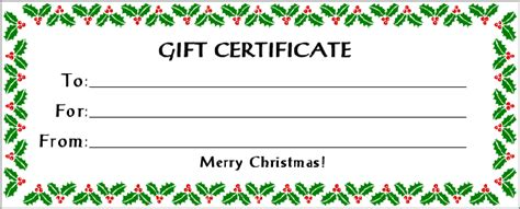 printable gift certificates gift certificate printables