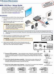Extron Electronic Electronics Switch Mpa 152 Plus Users