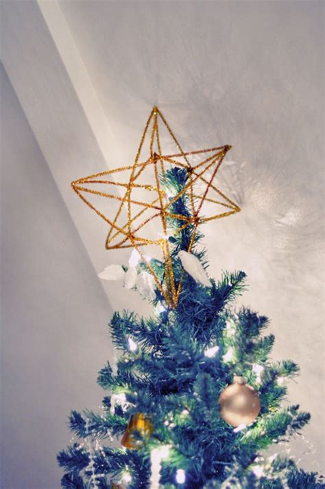 diy 3d gold christmas tree topper or home decor accent