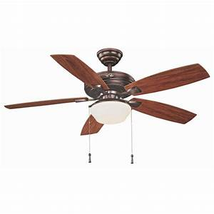 Hampton bay gazebo in led indoor outdoor weathered bronze ceiling fan with light kit yg