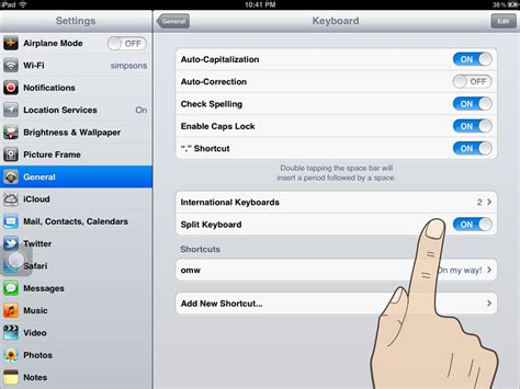 how to enable a disabled iphone how to enable and disable the split keyboard in ios