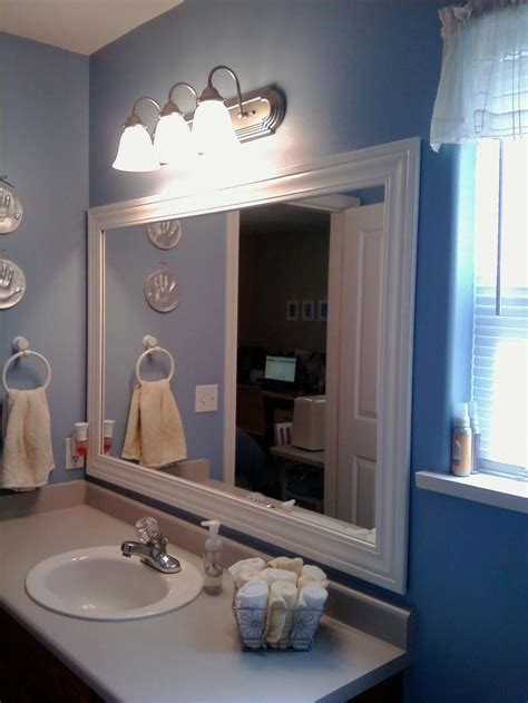 How To Frame Bathroom Mirror With Molding by Best 25 Frame Bathroom Mirrors Ideas On