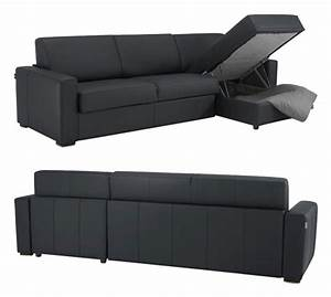 canape lit d39angle reversible en cuir meilleur prix With canapé convertible rapido avec tapis champ de fleurs pas cher