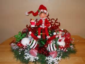 sale christmas centerpiece table decoration annalee elf gift