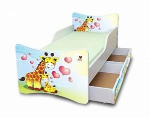 Kinderbett 90x200 Mit Schubladen : best for kids kinderbett 90x200 mit zwei schubladen giraffen online kaufen bei woonio ~ Bigdaddyawards.com Haus und Dekorationen