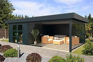 Gartenhaus Grau Modern : gartenhaus flachdach tksb thorben kr ger sonnen und blendschutzsysteme in wees ~ Buech-reservation.com Haus und Dekorationen
