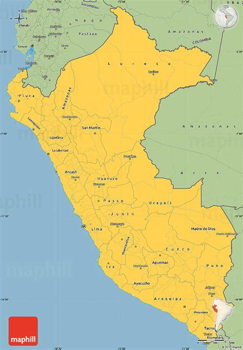 tourist map peru city maps