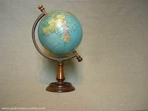 Globe Terrestre En Bois : globe terrestre de la marque taride de 1962 ~ Teatrodelosmanantiales.com Idées de Décoration