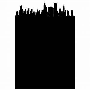 Chicago chalkboard skyline wall decal walls need love for Good look chicago skyline wall decal
