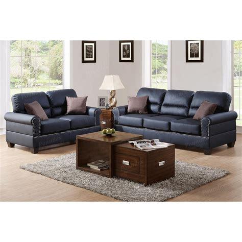 poundex bonded leather pc sofa  loveseat set sears