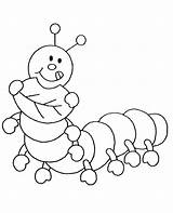 Coloring Insects Pages Caterpillar Printable Cartoon Children Hungry Very Drawing Template Funny sketch template