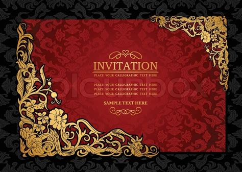 abstract background  antique luxury red  gold