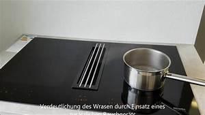 Miele muldenluftung kmda 7774 fl youtube for Induktionskochfeld fl chenbündig