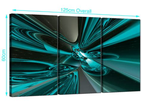cheap abstract canvas pictures  panel  teal