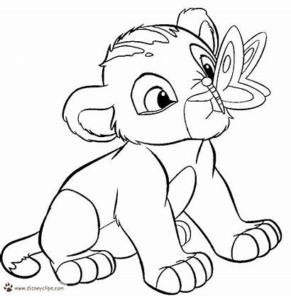 Coloring Disney Pages Lion King