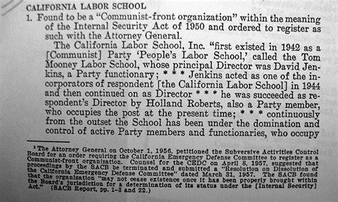 california labor school foundsf