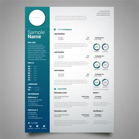 curriculum template design vector free