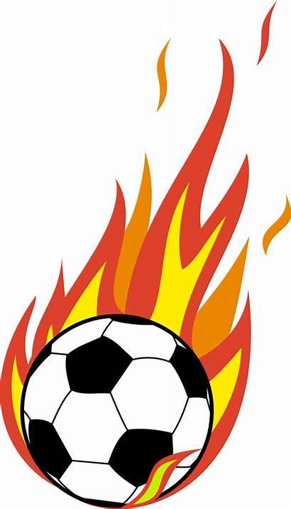 Soccer Ball Flaming Clip Clipart Clipartpanda Flames