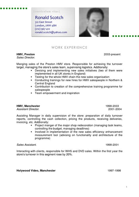 A Cv by Sle Cv Fotolip Rich Image And Wallpaper