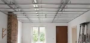 Faux Plafond Autoportant : poser du placo au plafond ~ Nature-et-papiers.com Idées de Décoration