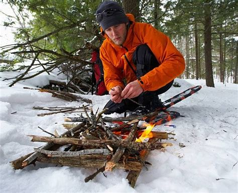 survival wilderness fire gear outdoor building lost bad overhang pocket weather survive kit winter skills food guide build travel glacier