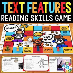 Text Features Board Game  U2013 Games 4 Gains