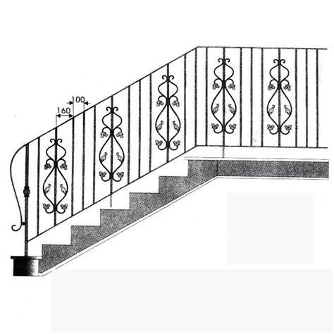 ringhiera prefabbricata scala safty interni in ferro battuto ringhiere per scale