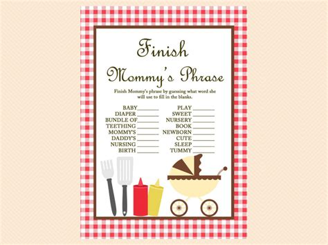 Bbq  Ee  Baby Ee    Ee  Shower Ee    Ee  Game Ee   Printables Magical Printable