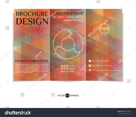 Colorful Brochure Templates by Colorful Trifold Brochure Design Template Modern Stock