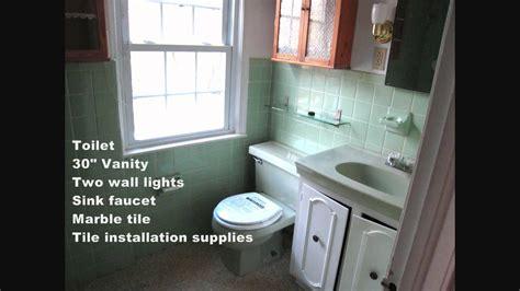 budget bathroom renovation youtube