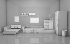 Kids Room Interior Free 3d Model -  Obj  C4d  Fbx