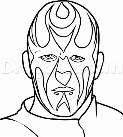Wwe Coloring Pages Goldust Draw Wrestling Step