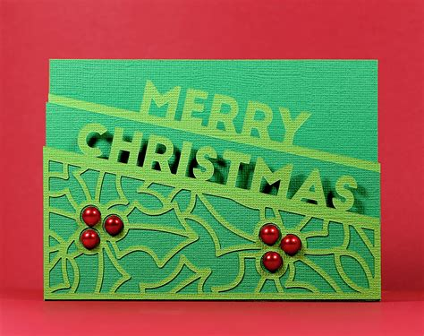 Merry christmas, seasons greetings and winter wishes. Merry-Edge-Card